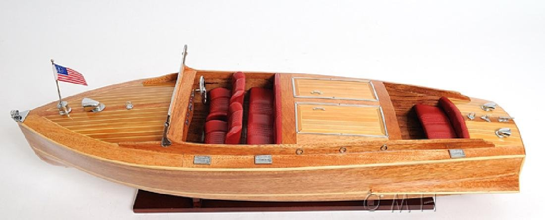 HAND MADE WOODEN Chris Craft Runabout W/COA