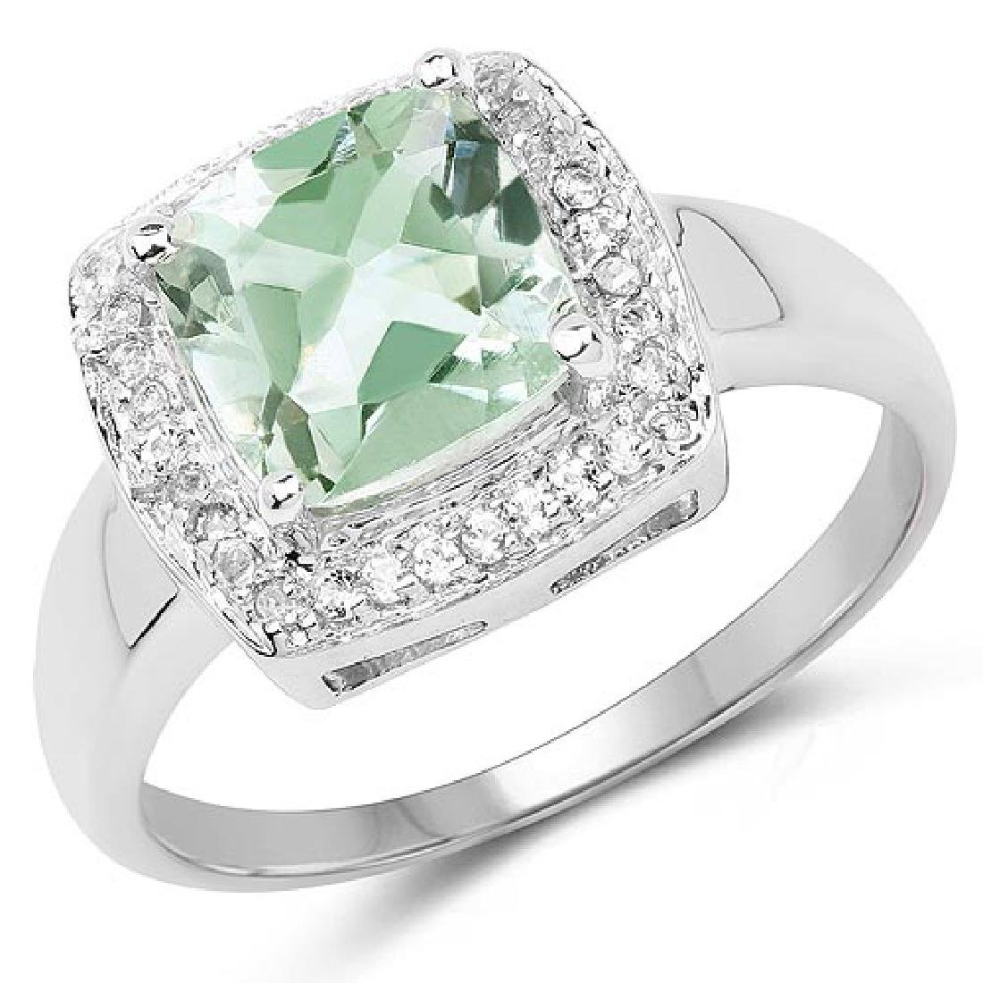 2.31 Carat Genuine Green Amethyst and White Topaz .925