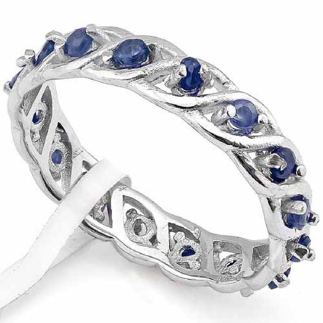 4/5 CARAT(16 PCS) SAPPHIRE 925 STERLING SILVER RING