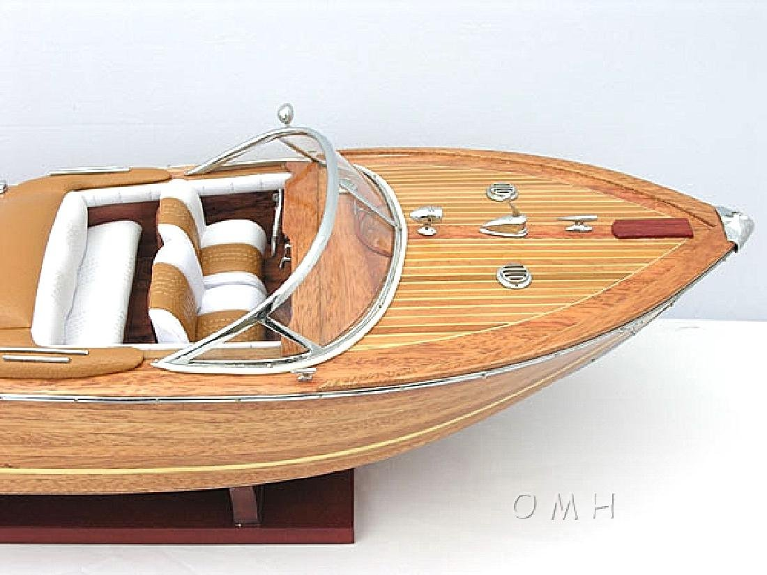 HAND MADE WOODEN Riva Aquarama Medium SpeedBoat W/COA