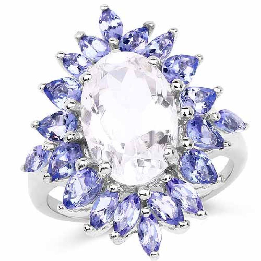 5.88 Carat Genuine Crystal Quartz and Tanzanite .925 St