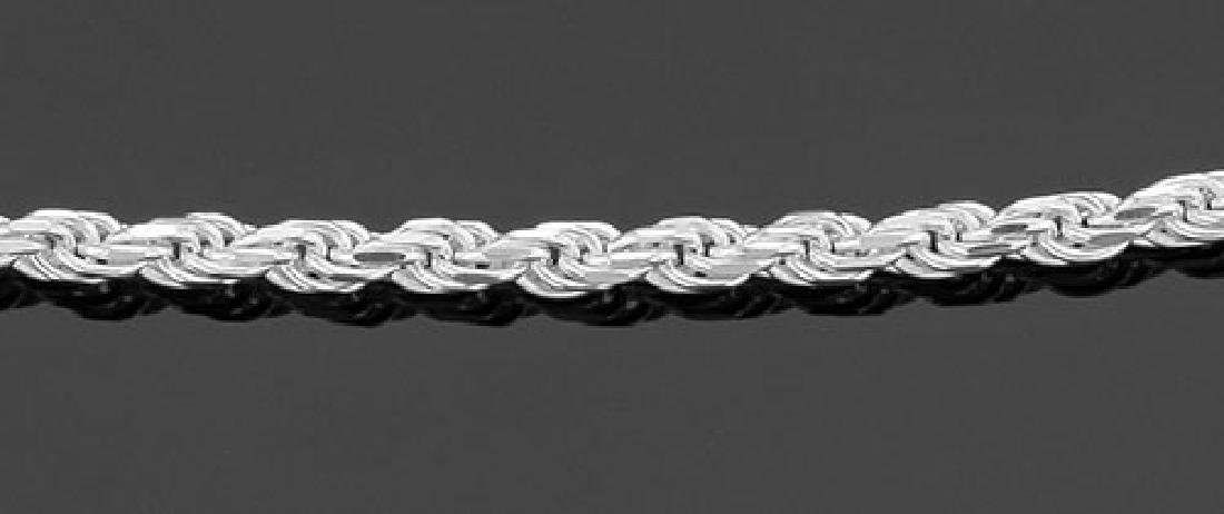 Rope Chain - 2mm - 30 Inch Necklace - Sterling Silver