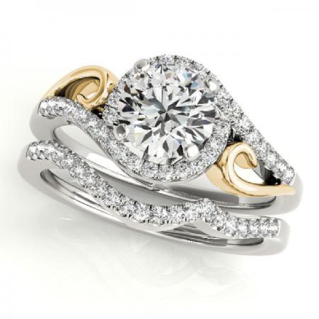 CERTIFIED 18KT TWO TONE GOLD 1.39 CT G-H/VS-SI1 DIAMOND