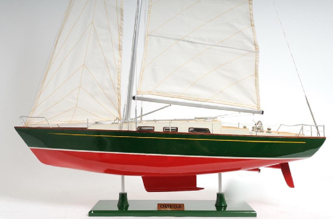 HAND MADE WOODEN Omega yacht W/COA