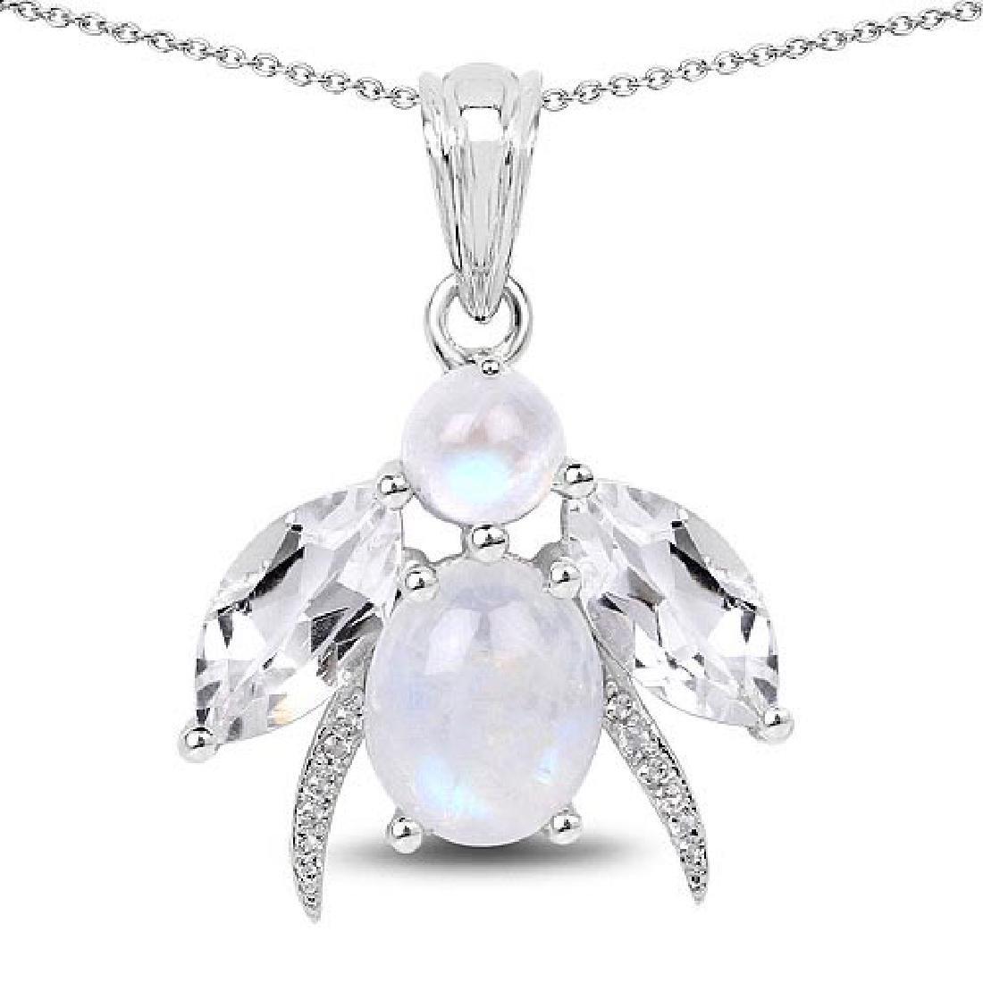 7.43 Carat Genuine White Rainbow Moonstone Crystal Qua