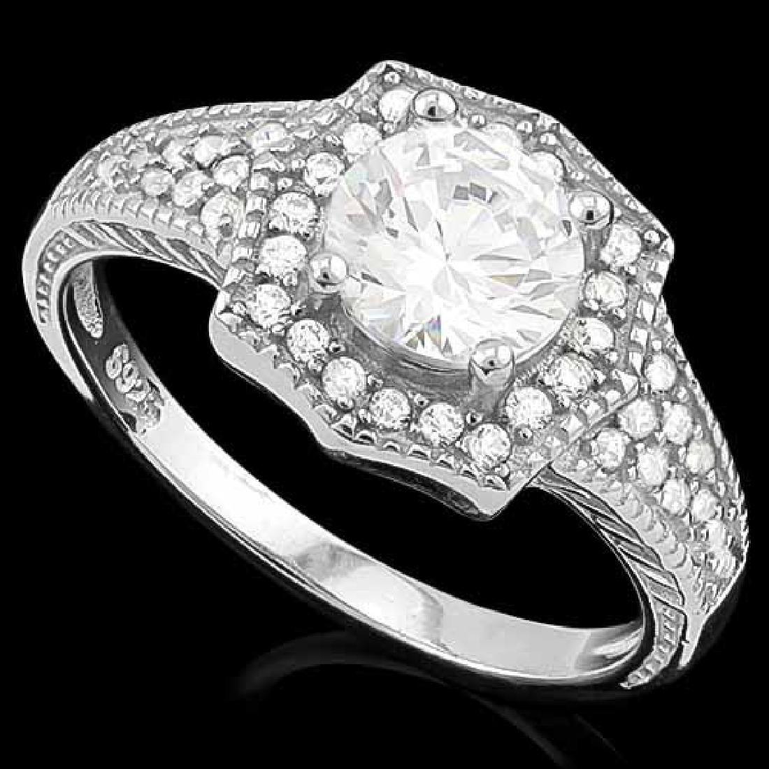 1 3/5 CARAT (41 PCS) FLAWLESS CREATED DIAMOND 925 STERL