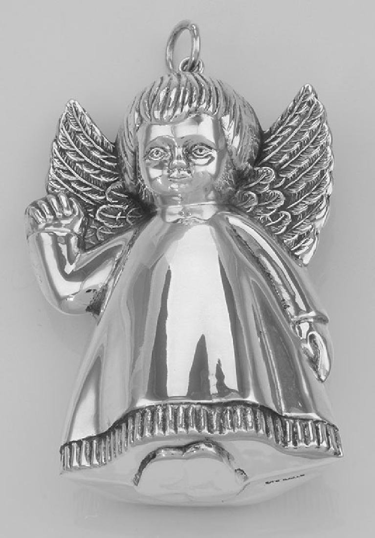 Antique Style Precious Angel Ornament in Fine Sterling