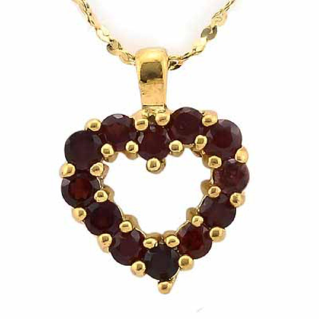 0.6 CARAT TW (12 PCS) GARNET IN 24K GOLD PLATED SILVER