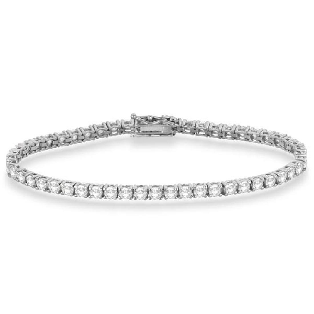Eternity Diamond Tennis Bracelet 14k White Gold (7.08ct
