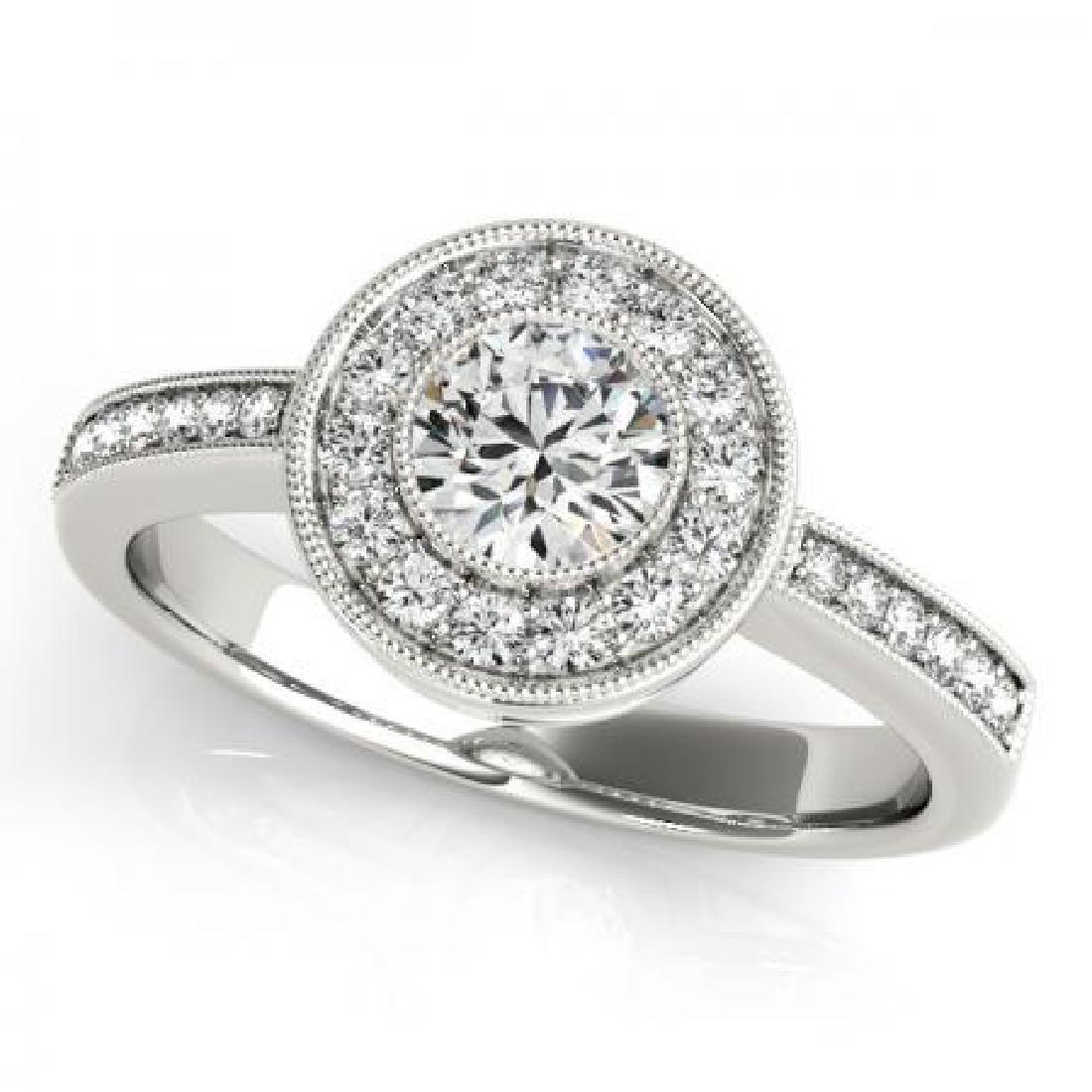 CERTIFIED PLATINUM 2.50 CT G-H/VS-SI1 DIAMOND HALO ENGA