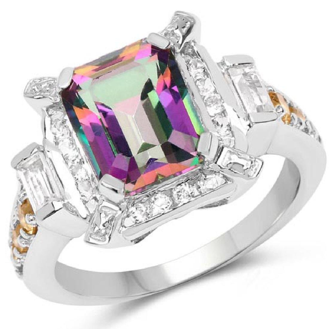 5.62 Carat Genuine Mystic Topaz Citrine and White Topa