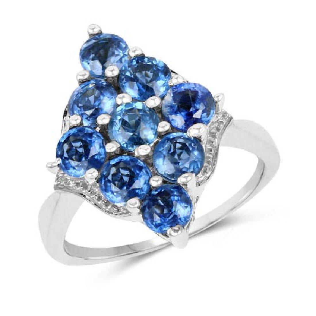 3.42 Carat Genuine Kyanite .925 Sterling Silver Ring