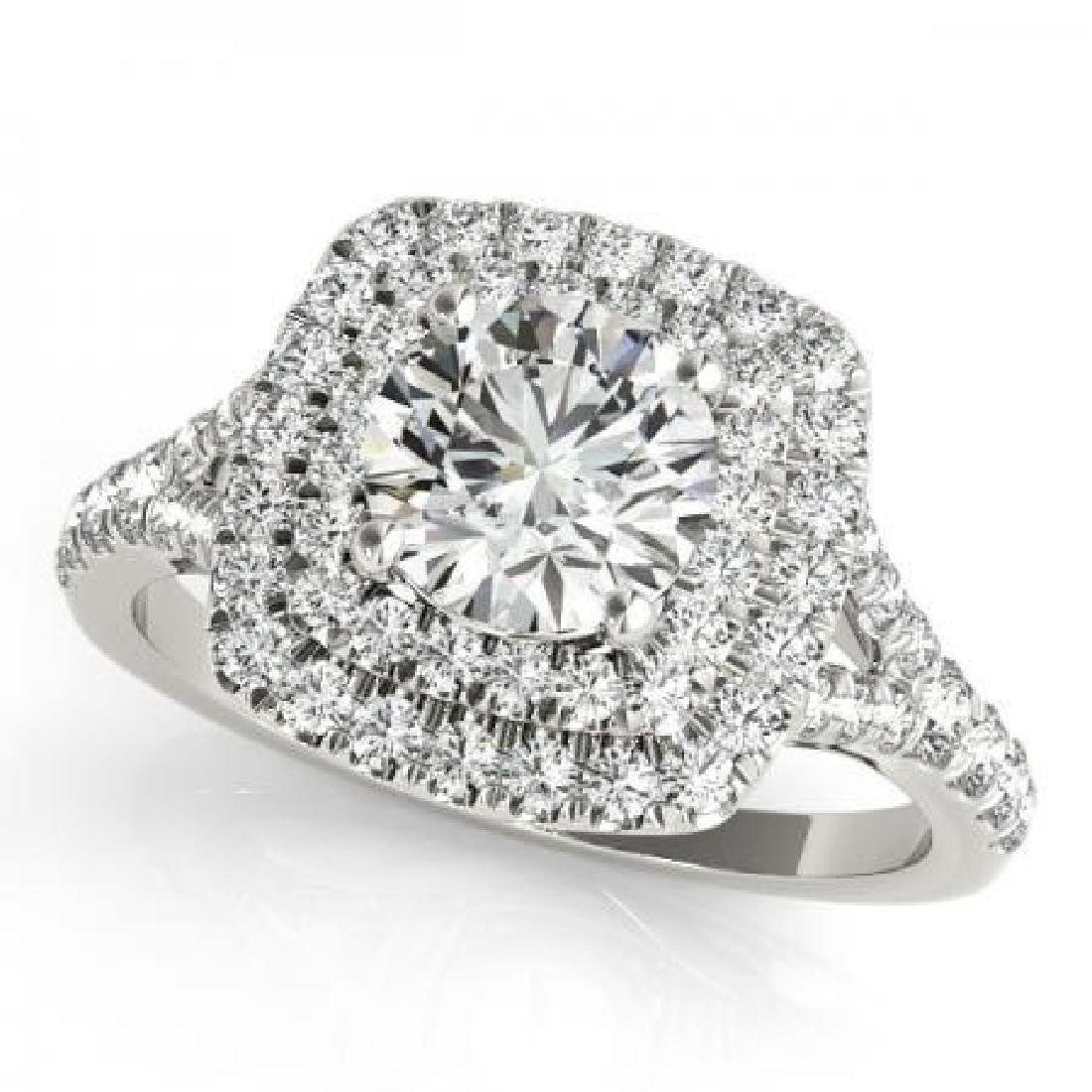 CERTIFIED 14KT WHITE GOLD 1.11 CT G-H/VS-SI1 DIAMOND HA