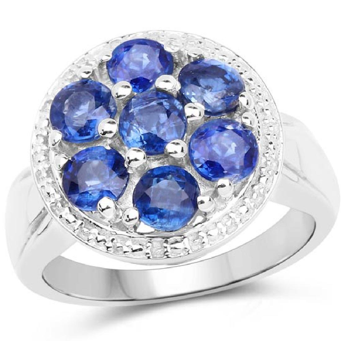 2.66 Carat Genuine Kyanite .925 Sterling Silver Ring