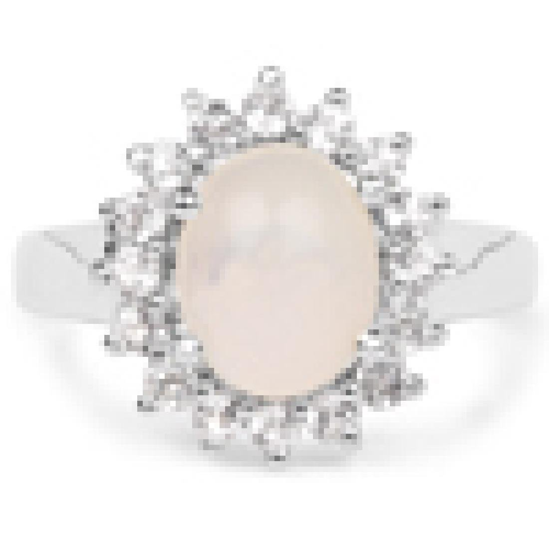 2.33 Carat Genuine Ethiopian Opal and White Topaz .925