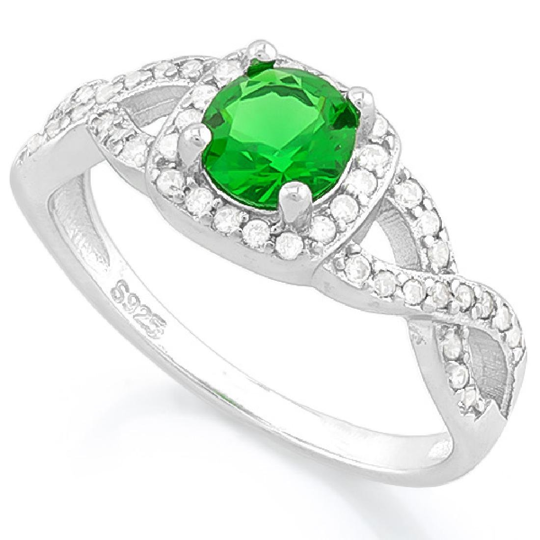 1 CARAT CREATED EMERALD & 1/2 CARAT (48 PCS) FLAWLESS C