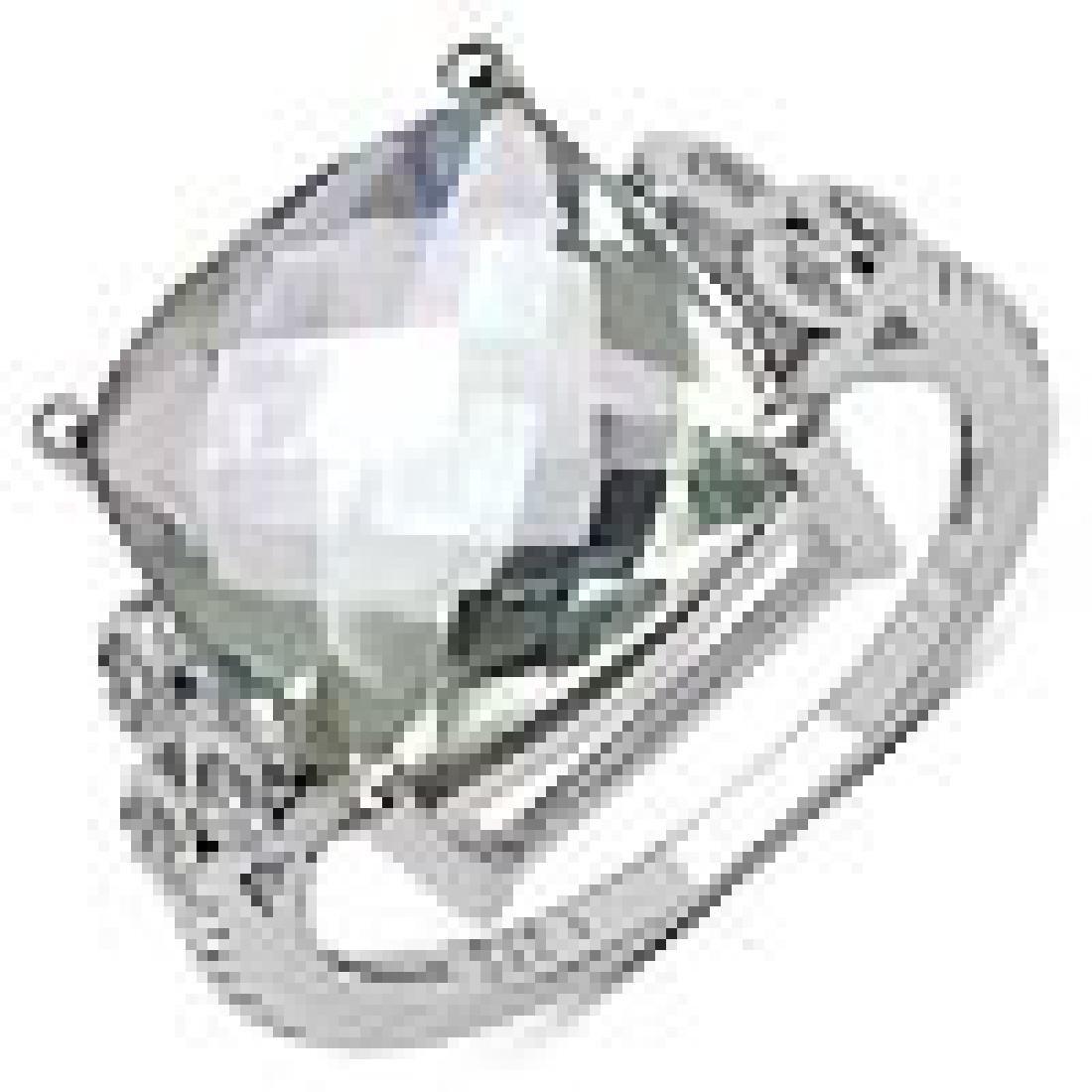6.12 Carat Genuine Amethyst .925 Sterling Silver Ring