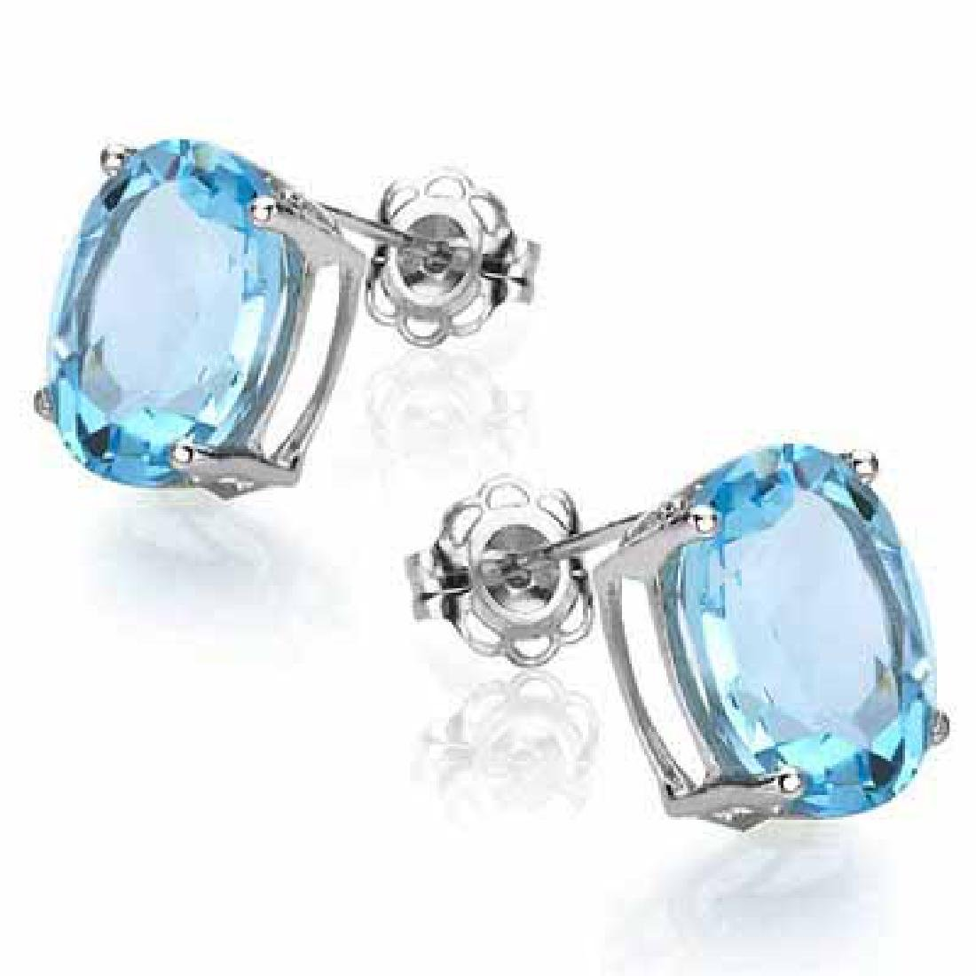 2.02 CARAT TW (2 PCS) BLUE TOPAZ PLATINUM OVER 0.925 ST