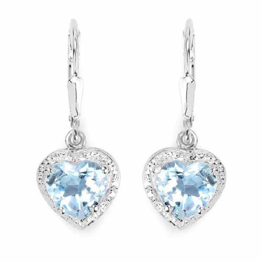4.00 Carat Genuine Blue Topaz .925 Sterling Silver Earr