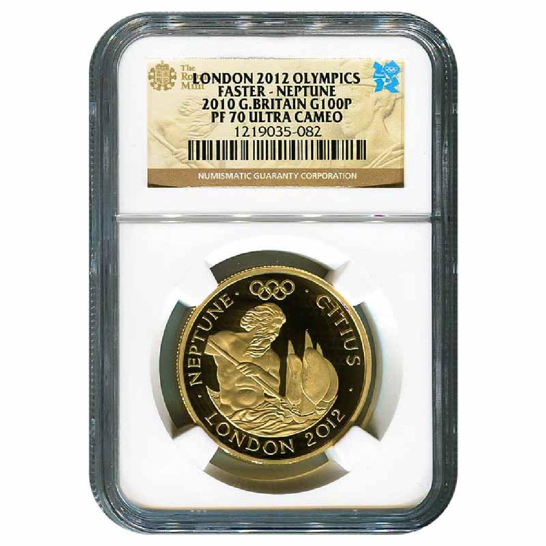 Great Britain 100 Pound Gold 2010 NGC PF70 2012 Olympic