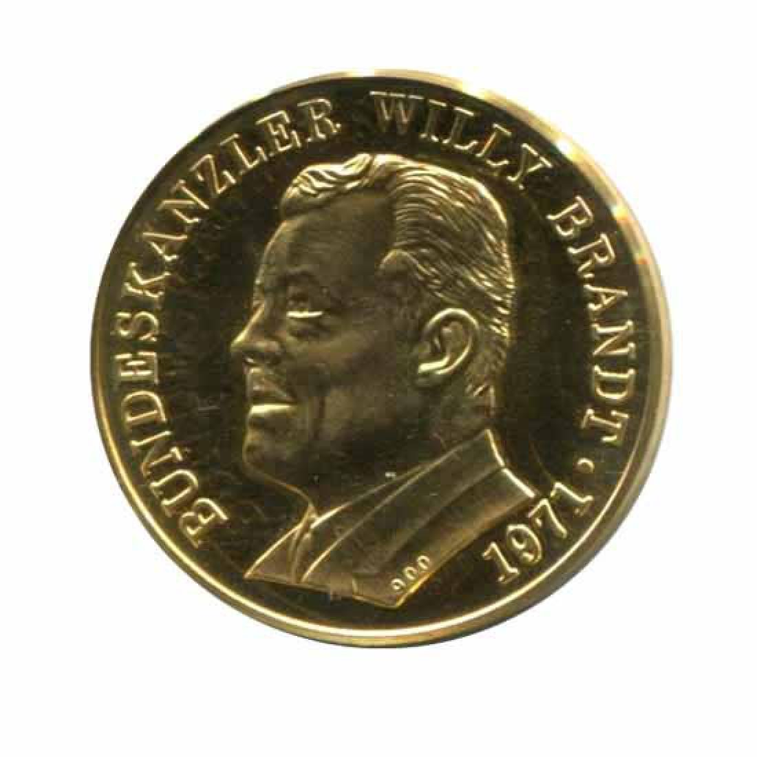 Germany Willy Brandt Gold Medal Nobel Peace Prize 1971