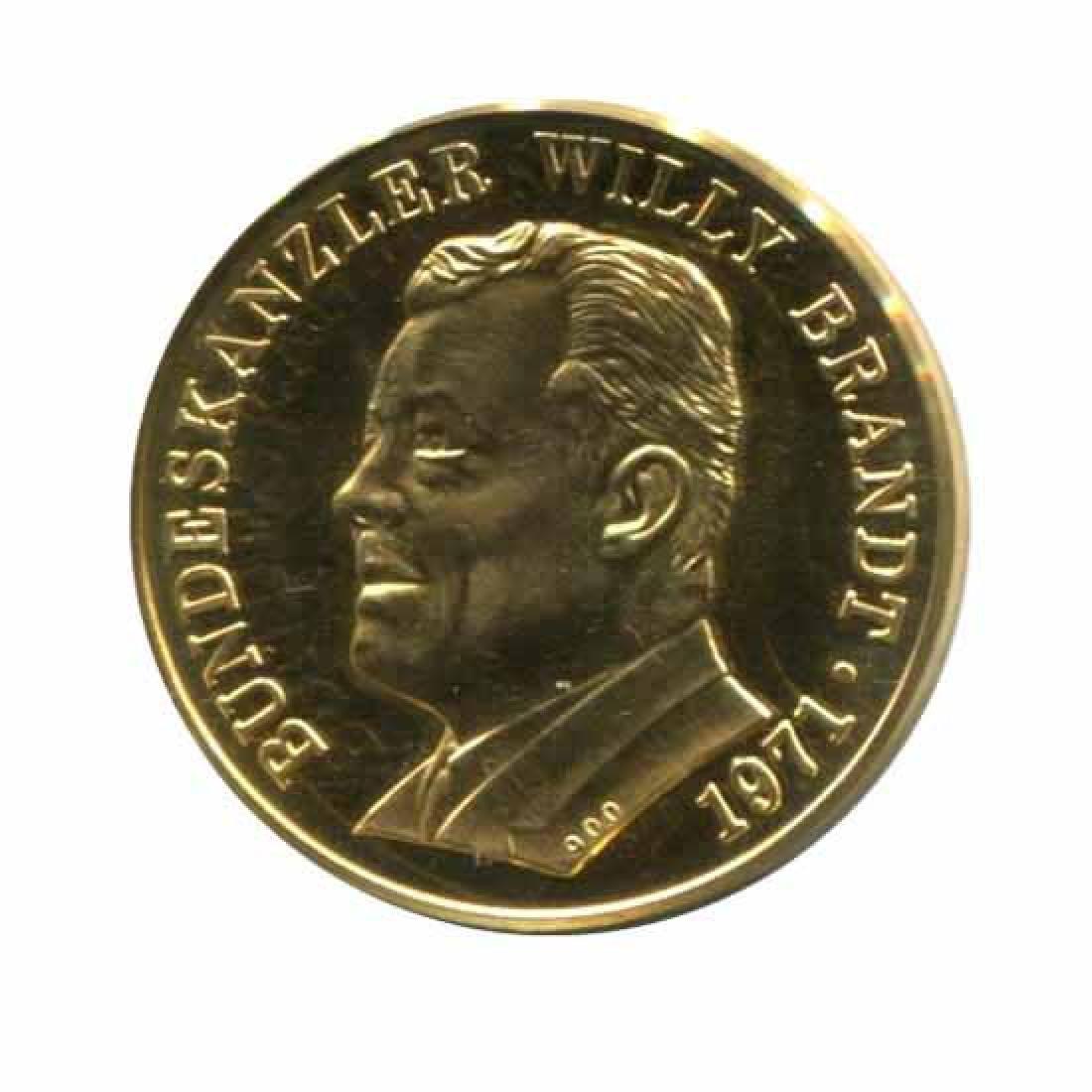 Germany Willy Brandt Gold Medal Nobel Peace Prize 1971
