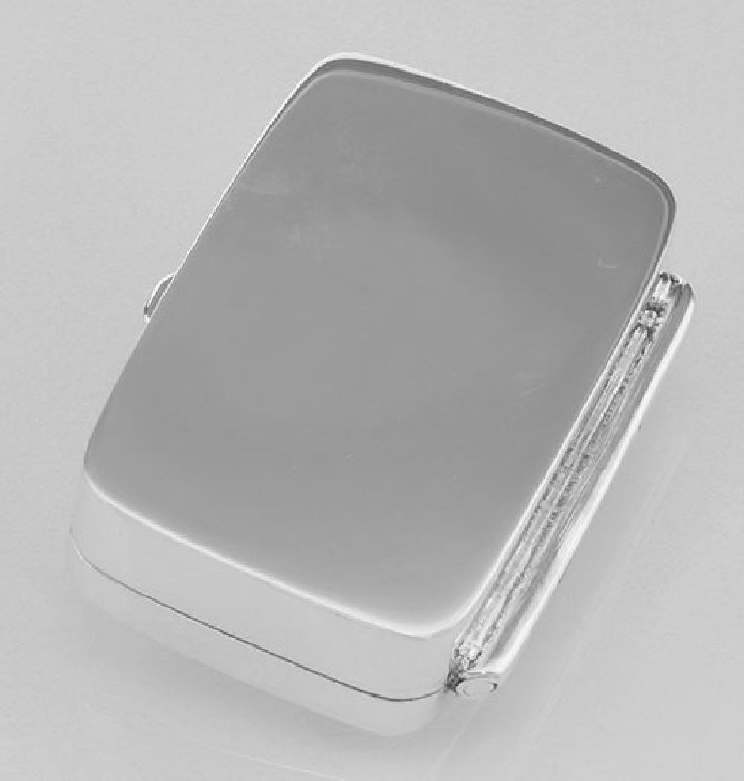Sterling Silver Pillbox with Etched Design - 3