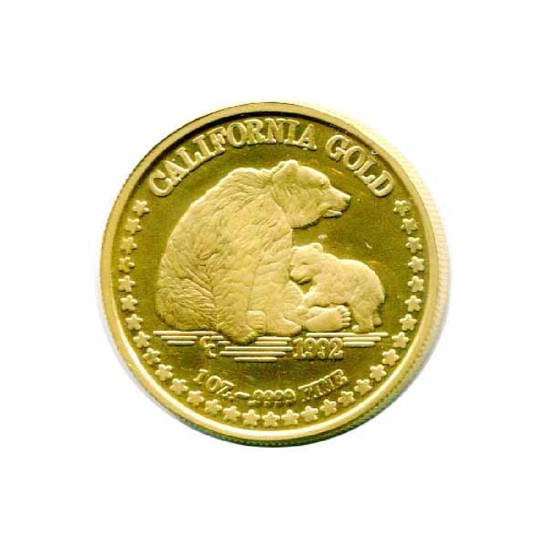 California Gold 1 Ounce PF 1992 Grizzly