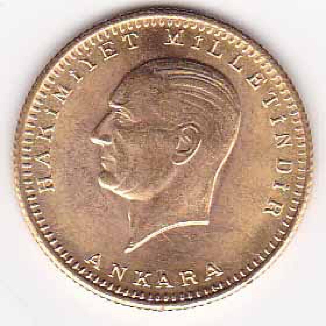 Turkey 100 kurush gold bullion issue