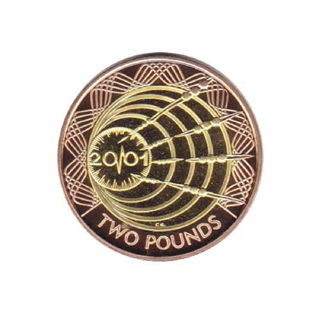 Great Britain 2 pounds gold PF 2001 Transatlantic Radio