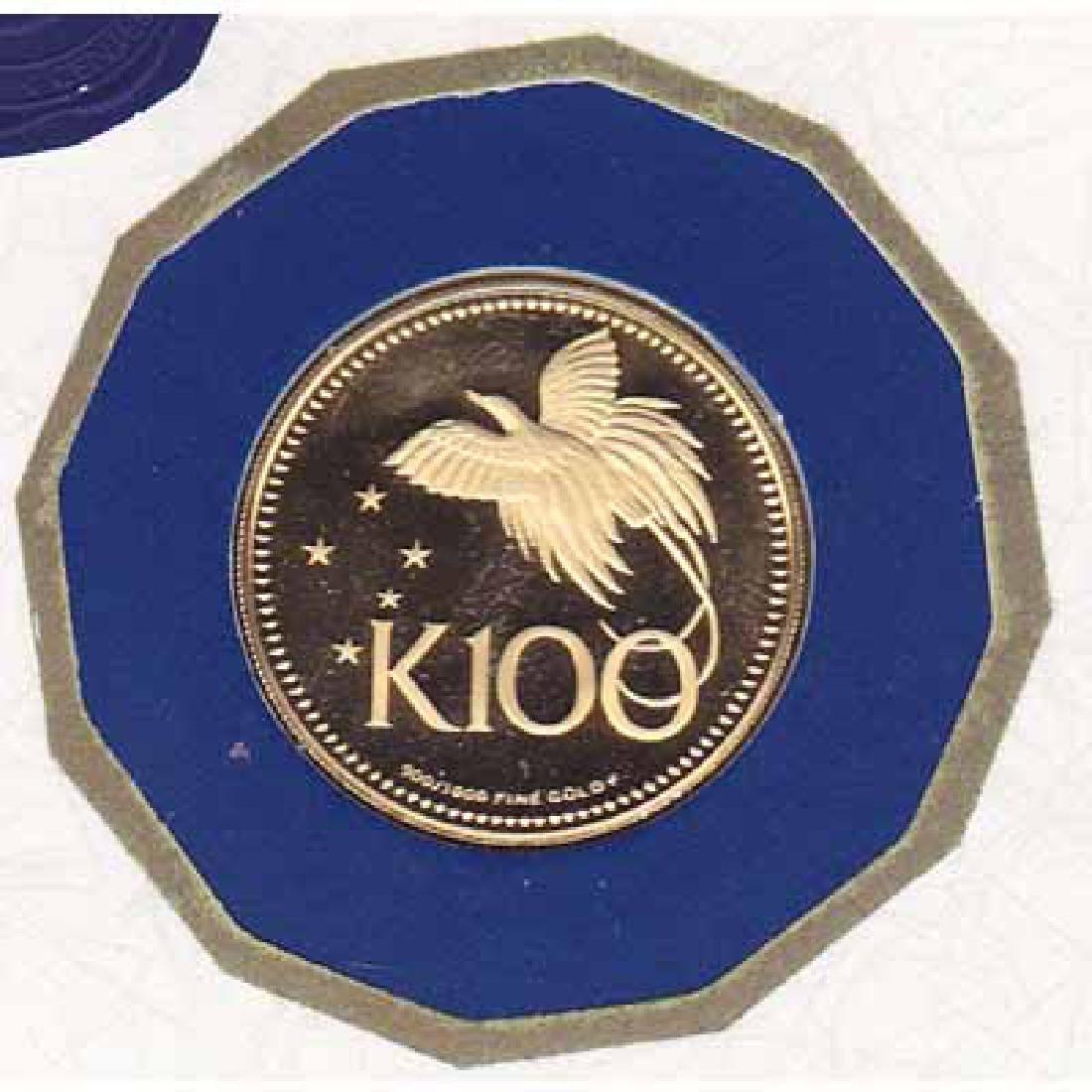 Papua New Guinea 100 Kina Gold PF 1975
