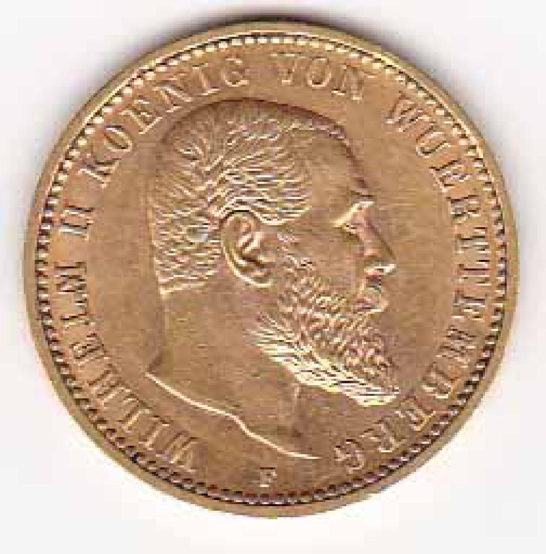 Wurttemburg 10 mark gold 1901-1913 AU-UNC