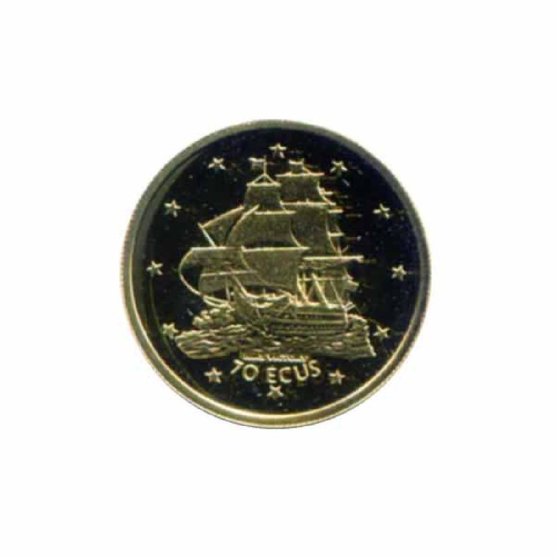 Gibraltar 70 ecus gold PF 1996 HMS Victory
