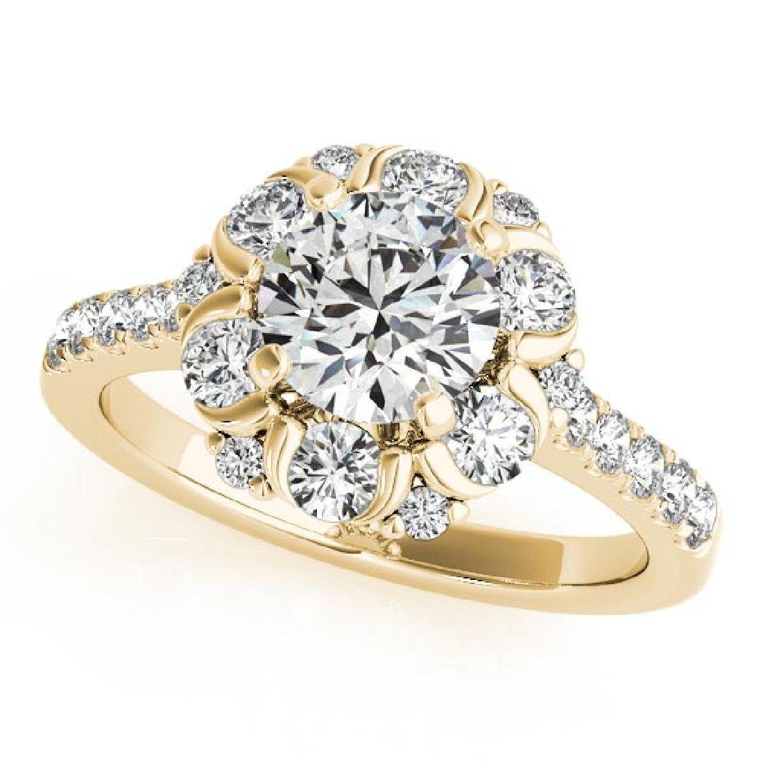 CERTIFIED 18K YELLOW GOLD 1.51 CT G-H/VS-SI1 DIAMOND HA