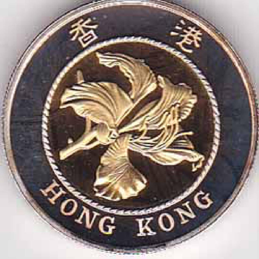 Hong Kong $10 gold 1994 Bauhinia flower
