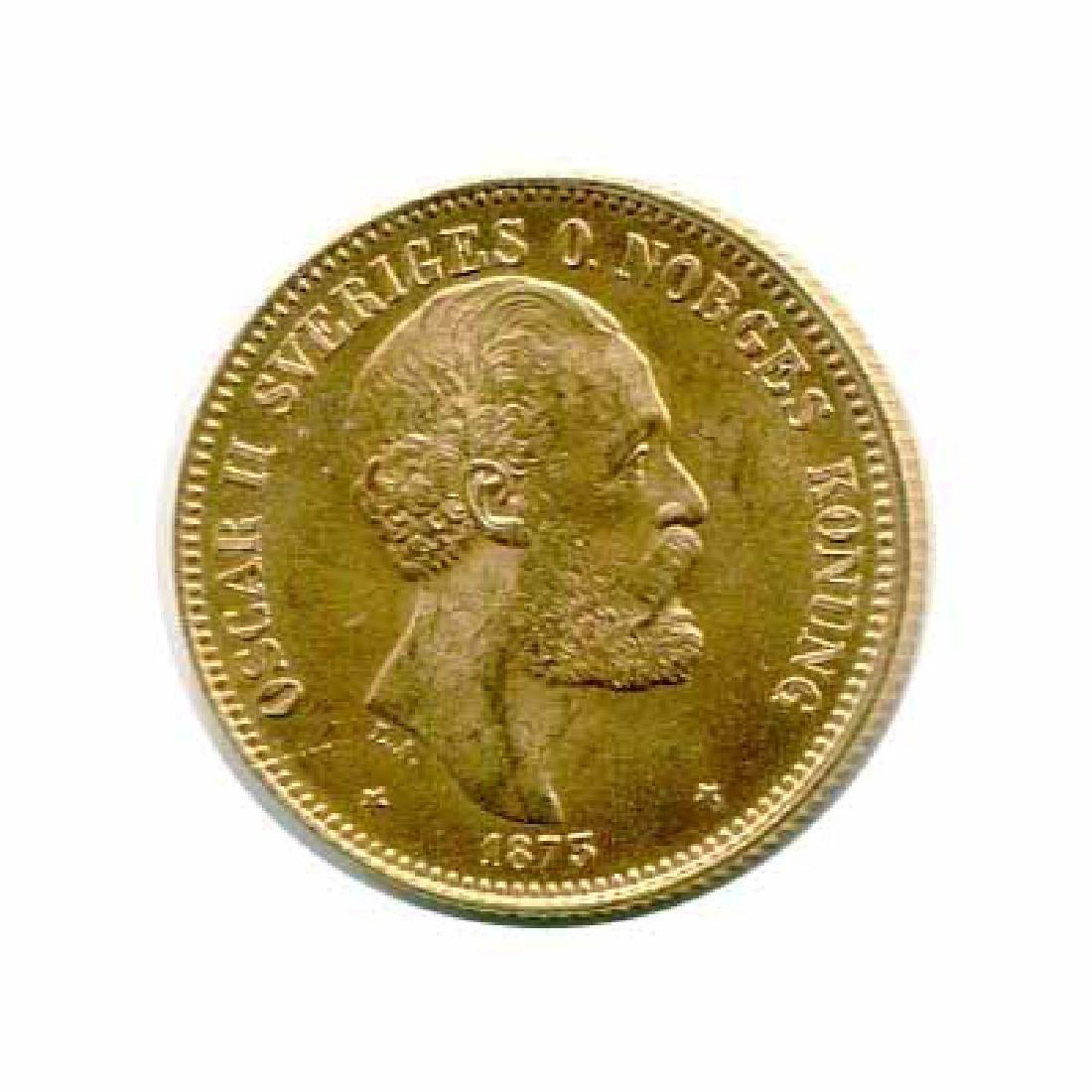 Sweden 20 Kronor Gold 1873-1876 UNC