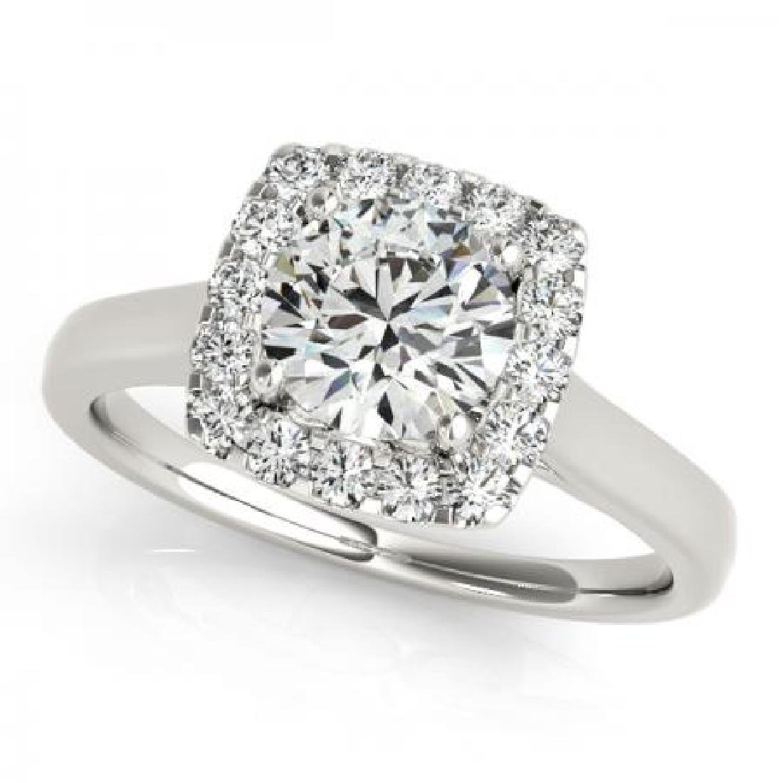 CERTIFIED PLATINUM 1.57 CT G-H/VS-SI1 DIAMOND HALO ENGA