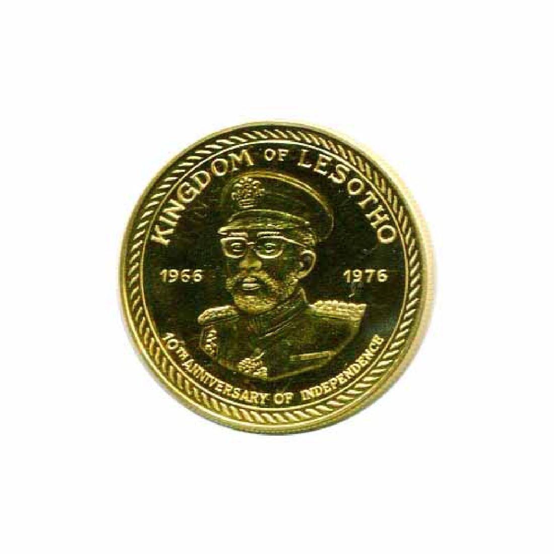 Lesotho 100 maloti gold 1976 BU Independence