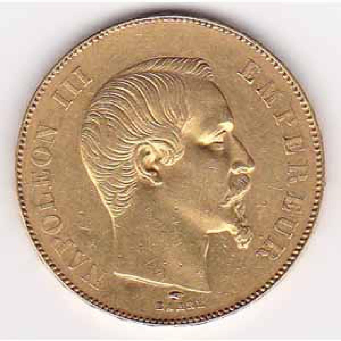 France 50 francs gold 1856A Napoleon III