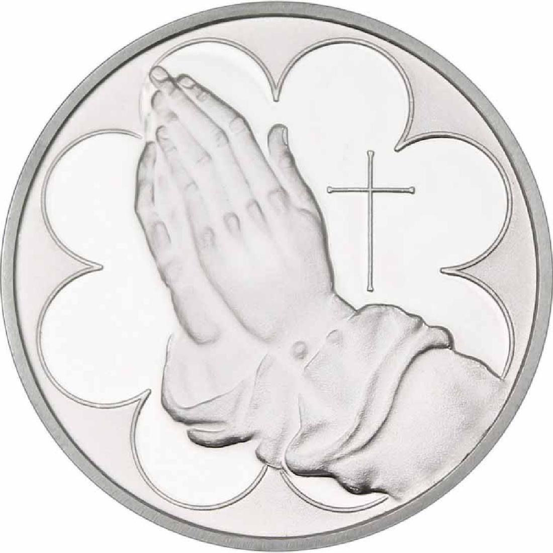 Praying Hands .999 Silver 1 oz Round