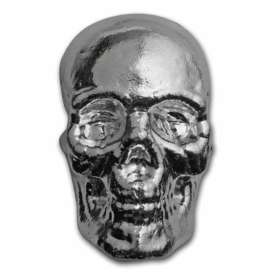 1 Kilo Atlantis Mint Hand Poured .999 Silver Skull