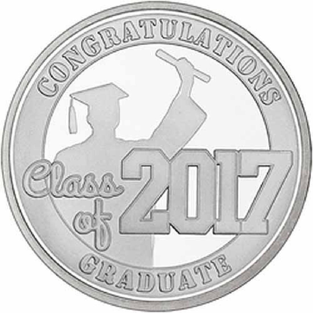 Congratulations Class Of 2017 .999 Silver 1 oz Round