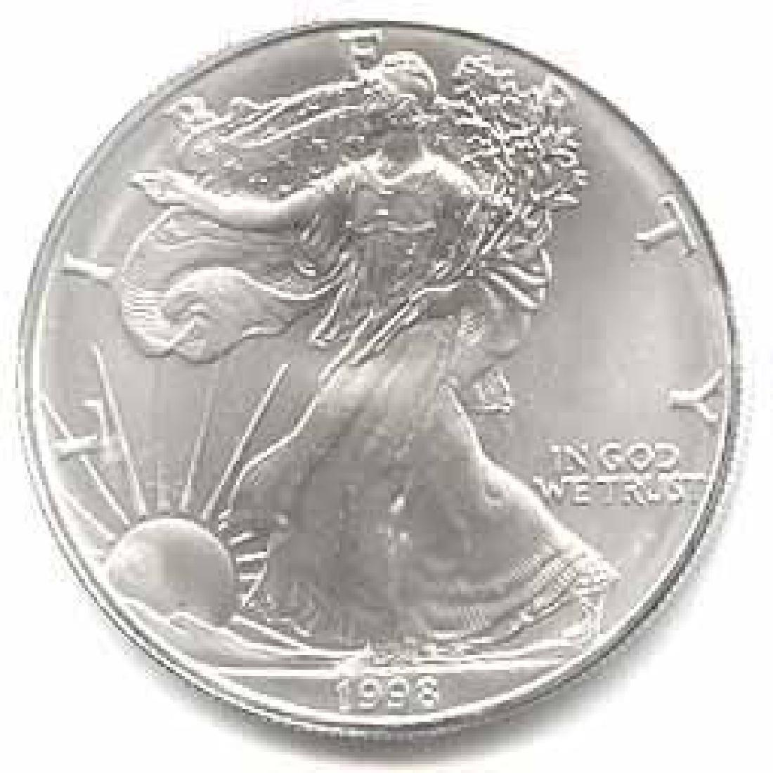 1998 1 oz Silver American Eagle BU