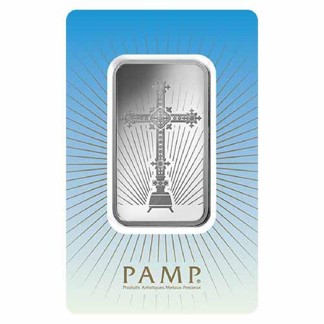 PAMP Suisse Silver Bar 1 oz - Romanesque Cross