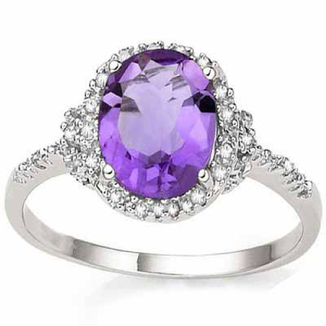 2.41 CARAT TW (3 PCS) AMETHYST & GENUINE DIAMOND PLATIN