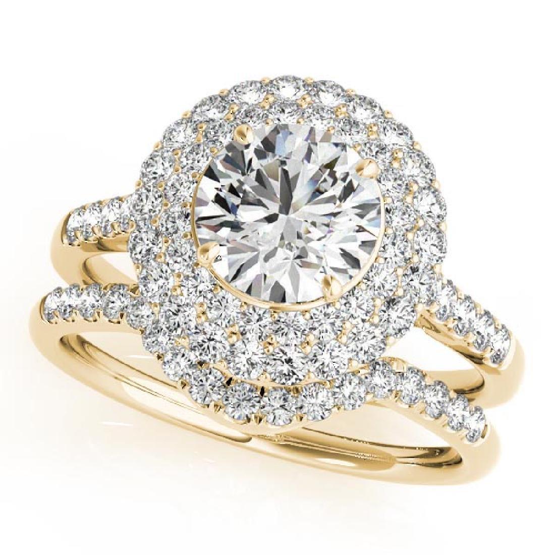 CERTIFIED 14KT WHITE GOLD 1.24 CT G-H/VS-SI1 DIAMOND HA