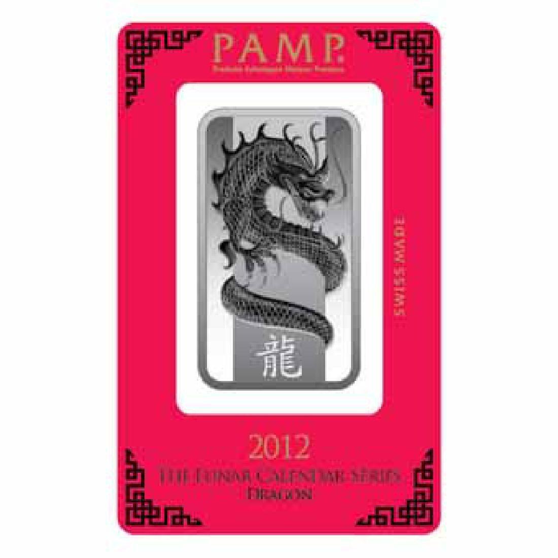 PAMP Suisse Silver Bar 1 oz - 2012 Dragon Design