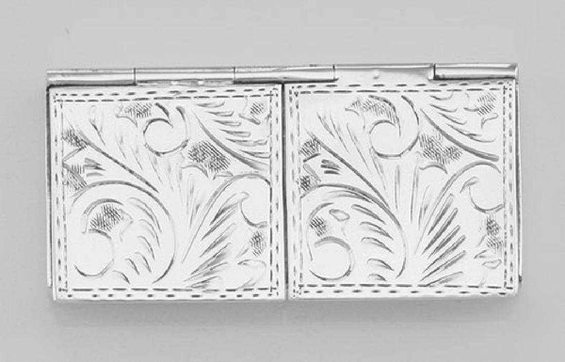 Two - Compartment Etched Pillbox for Tiny Pills Only in