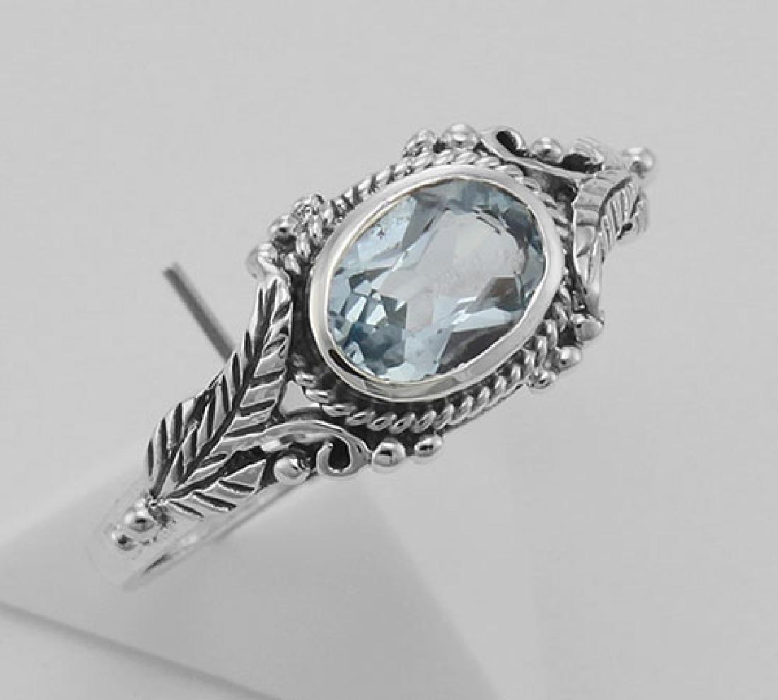 Blue Topaz Ring - Sterling Silver