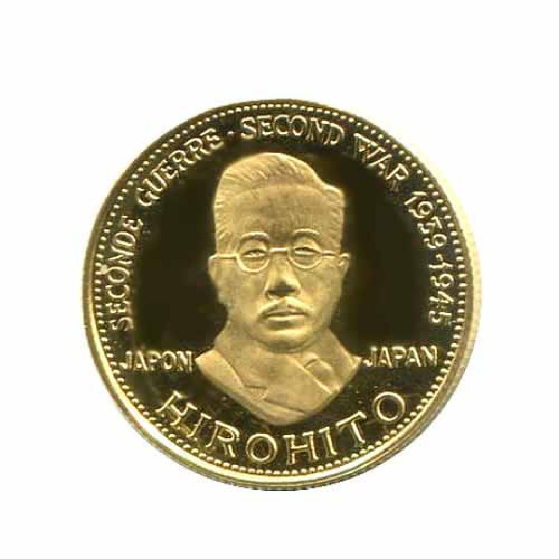 WWII Commemorative Proof Gold Medal 7g. 1958 Hirohito